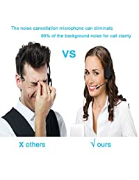 ANY - Teléfono con cable para centro de llamadas de oficina, oficina o casa de negocios, con auriculares manos libres con cancelación de ruido y dialpad compacto, 510