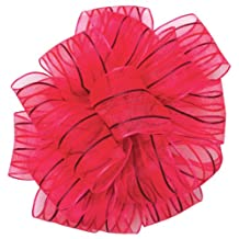 Offray Wired Edge Springtime Craft Ribbon, 1-1/2-Inch Wide by 10-Yard Spool, Hot Pink