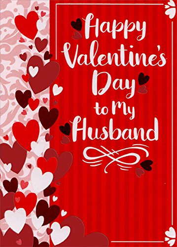 Amazon hearts and vertical stripes husband designer hearts and vertical stripes husband designer greetings valentines day card m4hsunfo