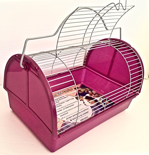 PURPLE TRAVEL CAGE FOR SMALL ANIMALS/SMALL BIRDS (Cage Travel Plastic)
