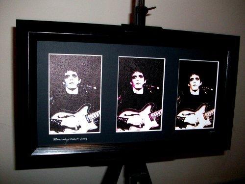 artcandi Lou Reed Limited Edition Framed Triple Pop Art Print ()
