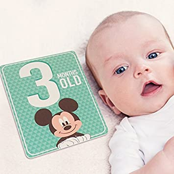 Baby Boys Age 0-12M Rising Star Milestone Photo Prop Two Sided Cards Gift Set