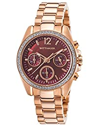 Wittnauer Wn4042 Women's Chrono Rose-Tone Stainless Steel Red Mop Dial Rose-Tone Ss Watch
