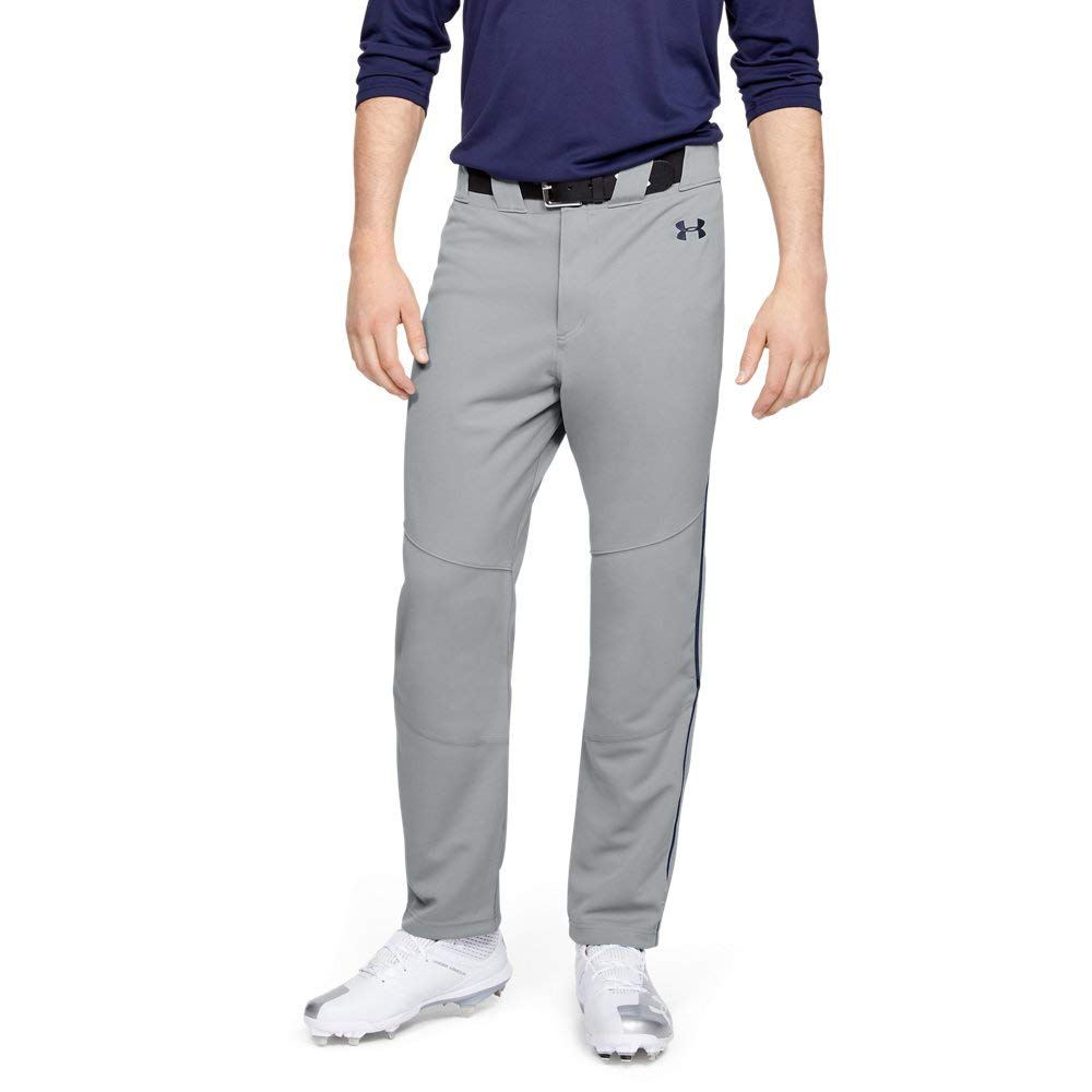 Under Armour Men's Utility Relaxed Piped Baseball Pants, Gray (082)/Midnight Navy, X-Large by Under Armour