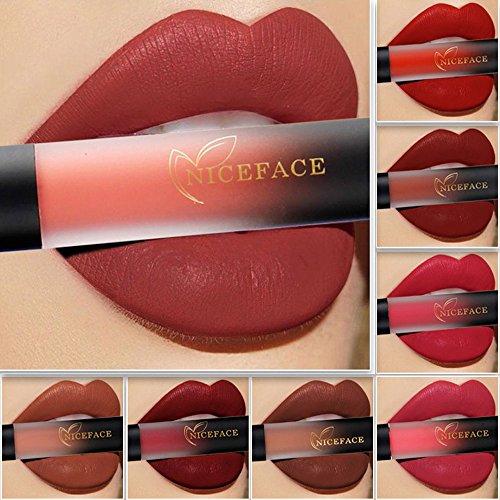 (Lip Glosses Professional Girls Make-up Lipstick Long-lasting for Women by TOPUNDER B)