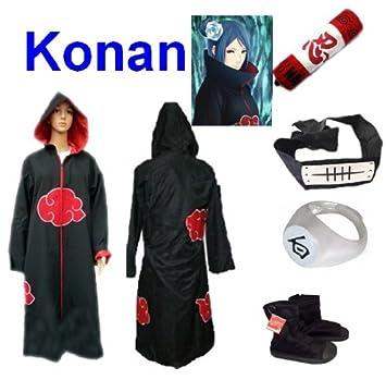 Traje de Cosplay para cosplay Naruto Akatsuki Konan Ninja ...