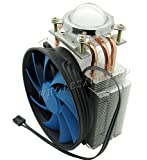 Led World Heat Sink 3 copper pipe + Fan + 44mm Lens For 20W 50W -150W High Power LED