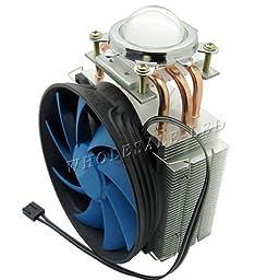 Led World Heat Sink 3 copper pipe + Fan + 44mm Lens For 20W 50W -150W High Power LED