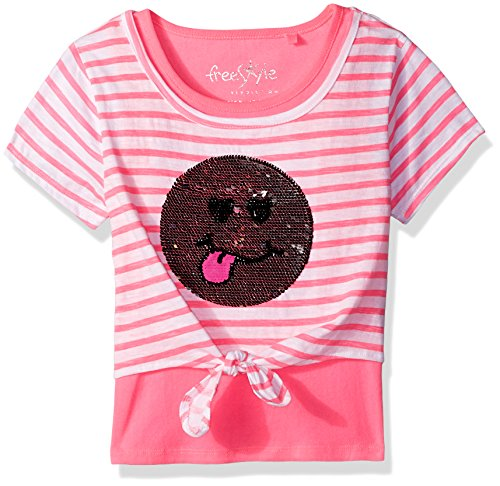 Freestyle Revolution Big Girls' Smile Sequence 2 Tops Set, Pink, 8