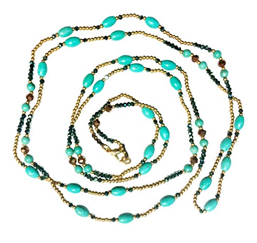 bijoux-de-ja-simulated-turquoise-howlite-beads-station-rope-necklace-48-inches