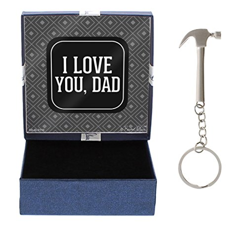 I Love You Dad Gift Dad Gift Hammer Keychain & Gift Box Bundle