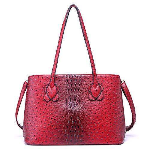 Women Top Handle Satchel Handbags Shoulder Bag Messenger Tote Bag Purse (red)