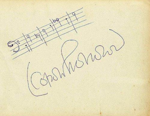 Leopold Stokowski - Autograph Musical Quotation Signed