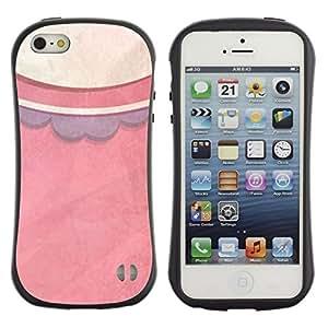 Paccase / Suave TPU GEL Caso Carcasa de Protección Funda para - Pattern Pastel Dress Fashion - Apple Iphone 5 / 5S