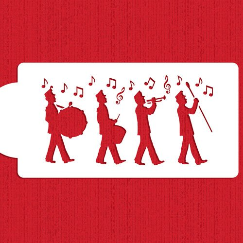 Marching Band Cake Stencil by Designer -