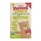 Yummi Bears Organics Immunity Health Gummy Vitamin Supplement for Kids, 90 Gummy Bears