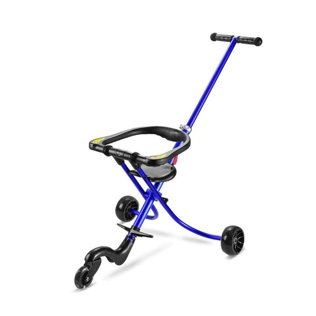 ZHAOJING Carretilla plegable simple para el viaje ligero del triciclo de los niños con el triciclo del bebé ( Color : Azul )