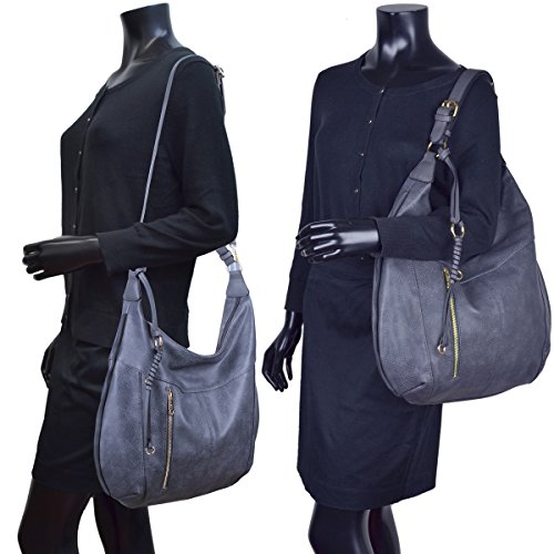 Purse Womens Large Shoulder Hobo Deisgner Bag Soft Fashion Dasein Bag Black z1Zq1