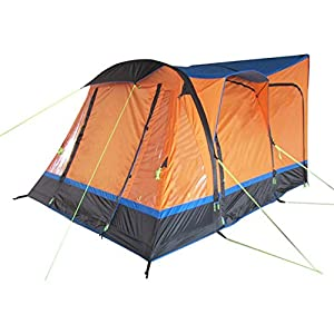 OLPRO Outdoor Leisure Products Loopo Breeze 3.9m x 3.1m Inflatable Drive Away Campervan Awning Orange & Black