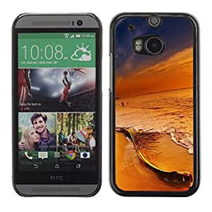 // PHONE CASE GIFT // Duro Estuche protector PC Cáscara Plástico Carcasa Funda Hard Protective Case for HTC One M8 / Colores en Sunset Beach /