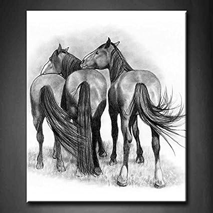 Amazon.com: First Wall Art - Three Affectionate Horses Wall Art ...