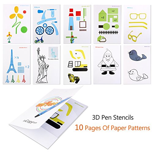 FOXNOVO-12pcs-3D-Pen-Filament-175mm-PLA-Filament10m-In-Different-Colors-Included-10-Pages-of-Stencils-Book