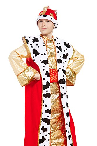 King Child Costumes Kit (Kids Boys Renaissance King Halloween Costume Tsar Lord Dress Up & Role Play (3-6 years))
