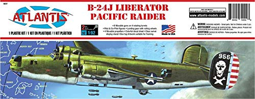 Atlantis Models B-24J Liberator Giant Bomber Pacific Raider Plastic Model kit 1/92 Atlantis