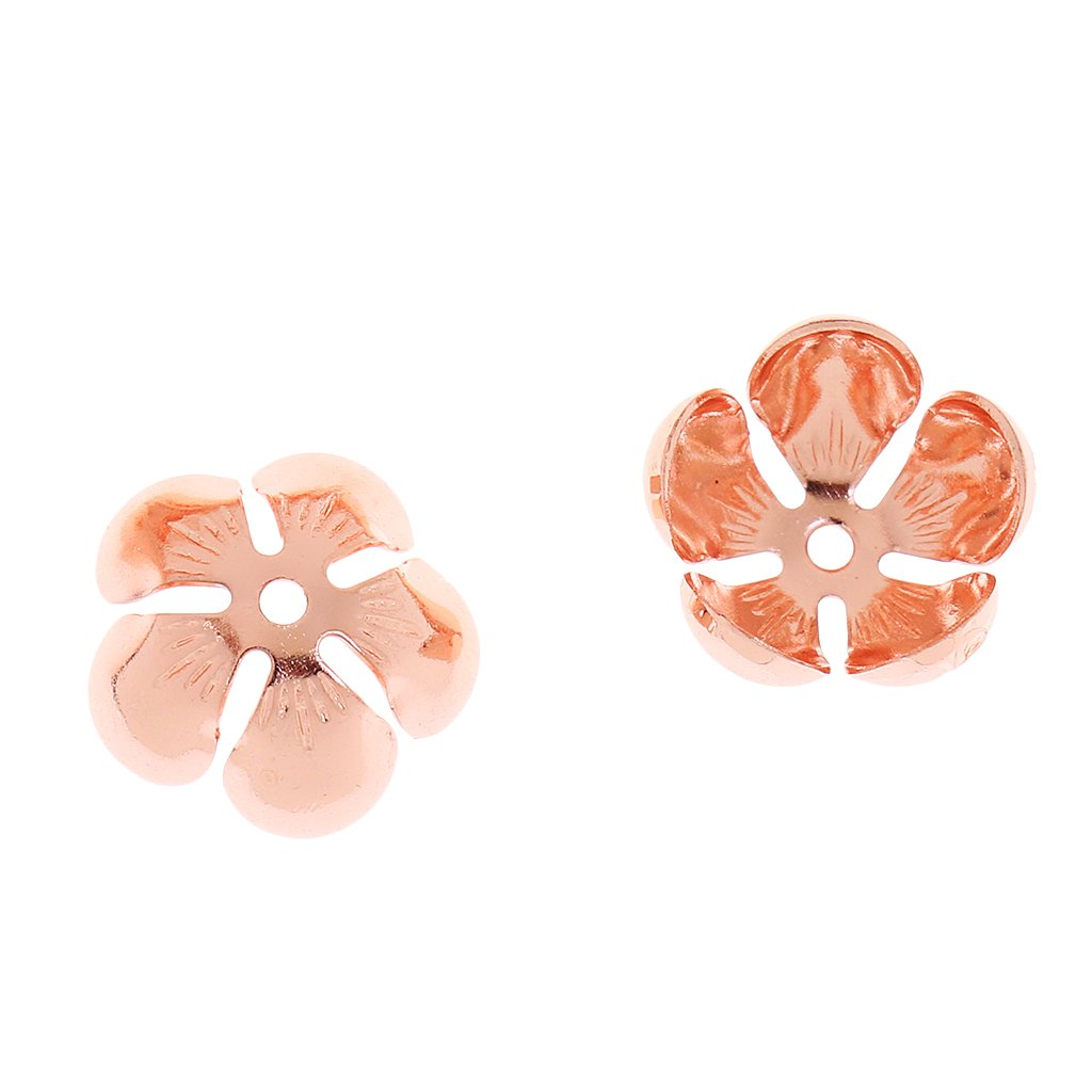 Rose Gold MonkeyJack Wholesale Lots Mixed 100pcs Copper Alloy Flower Bead Caps Craft Jewelry Making DIY 135mm