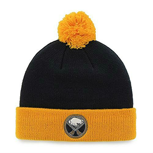 Buffalo Sabres Youth Size (4-7) Cuff Knit Pom Beanie Hat Cap Navy & Yellow