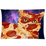 Pillow case Cover Pizza Cat Pattern Two Sides 20 by 30 ID-30