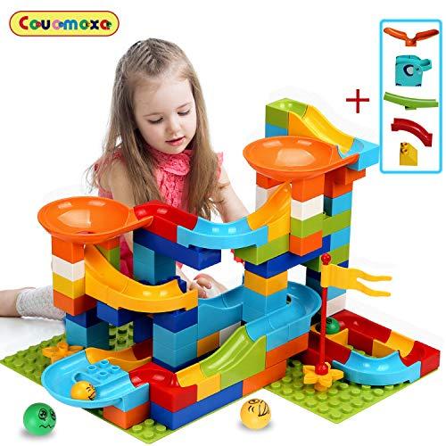 COUOMOXA Marble Run Building Blocks Classic Big Blocks STEM Toy
