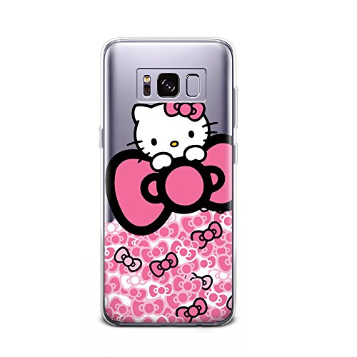 GSPSTORE Galaxy S8 Case Hello Kitty Cartoon Soft Transparent TPU Protector Case Cover for Samsung Galaxy S8 #19