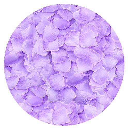 LoveniMen Rose Petals, 2000Pcs Silk Artificial Petals Flowers Home Party Decorations Wedding Bridal Decoration Wholesale Valentine Anniversary Ceremony Purple White