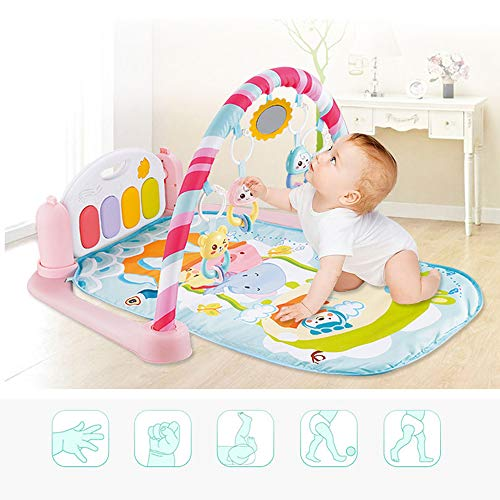 MCJL Remote Control Pedal Piano Early Childhood Education Rattle Music Carpet Fitness Rack Game Suitable for Newborns Born in Music and Lighting,Lion by MCJL (Image #4)