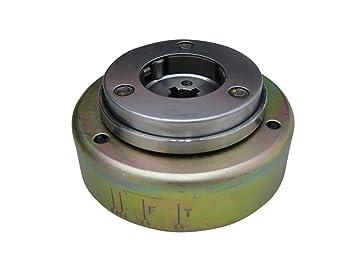 Exterior Rotor para 66/80cc eléctrico Start arranque/embrague centrífugo (BT) bicicleta Kits de motor de 2 tiempos: Amazon.es: Coche y moto