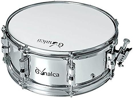 Gonalca Percusion 4631 - Caja banda 35 x 14 cm conaros metalicos, color plata remo: Amazon.es: Instrumentos musicales