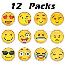 Melonboat 3D Emoji Magnets for Fridge Refrigerator, Funny Kids Girls School Locker Accessories, 12 Pack
