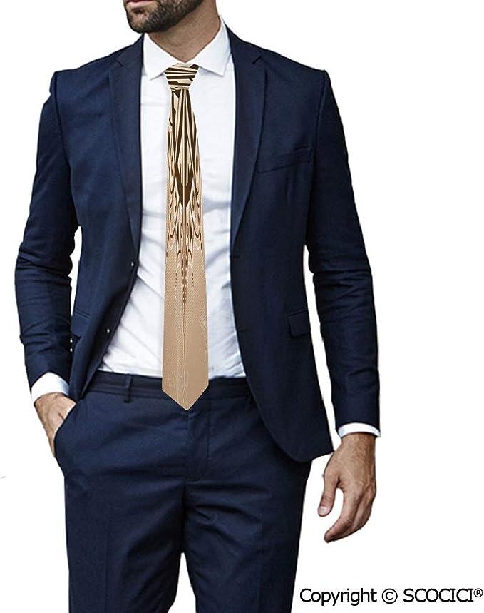 SCOCICI Corbata de cuello para hombre, diseño abstracto con ...