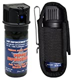 Pepper Enforcement Splatter Stream Police Strength 10% OC Spray with Metal Clip Tactical Holster - Professional Grade Emergency Self Defense Non Lethal Weapon for Personal Protection
