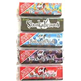 Skunk Brand 1 1/4 SIze Rolling Papers Variety Pack Strawberry Blackberry Hawaiian Blueberry Skunkalicious