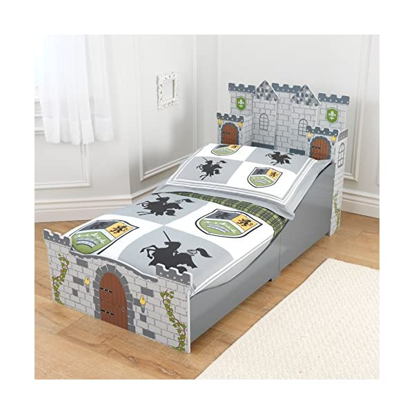 KidKraft Boy's Medieval Castle Toddler Bed 2