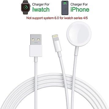 Amatage Apple Watch Chargeur 2 en 1 sans Fil Compatible pour