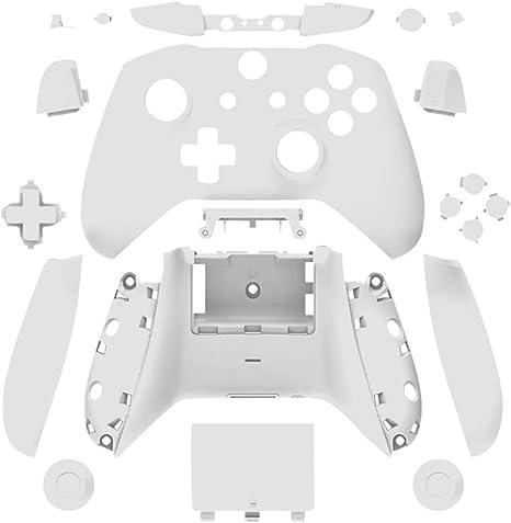 Gtagain Caja Completa de Piezas de Repuesto - Cubierta Blanca de la Funda Protectora Kit de Botones para Xbox One Slim Controller: Amazon.es: Videojuegos