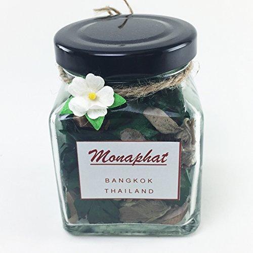 monaphatの美しいガラスボトルデザイン装飾with Lemon Grass Fragrance Potpourri # pr-0106 B01N4B95YC