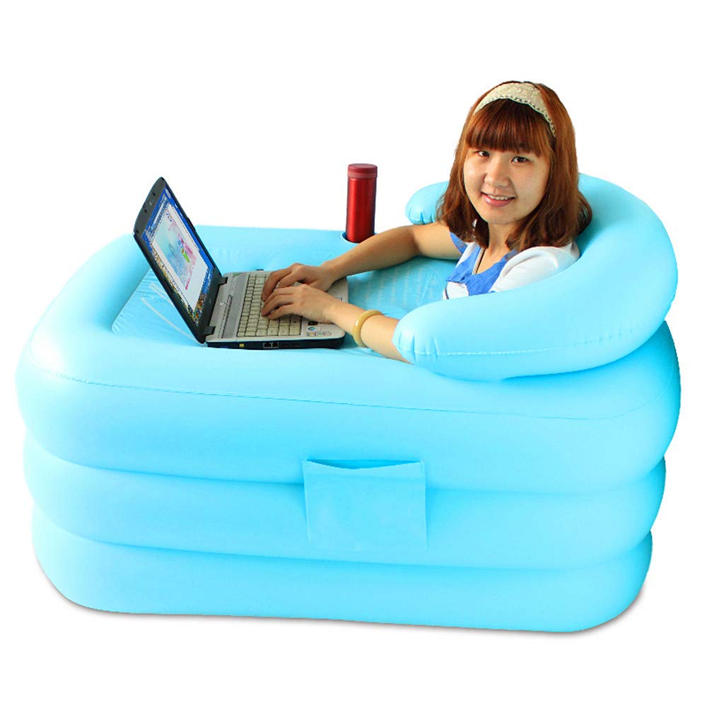 Folding Inflatable Bathtub, Heat Preservation Thickening Bucket,115x80x50cm