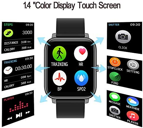 Donerton Smart Watch, Fitness Tracker for Android Phones, Fitness Tracker with Heart Rate and Sleep Monitor, Activity Tracker with IP67 Waterproof Pedometer Smartwatch with Step Counter for Women Men 51KznpfytaL