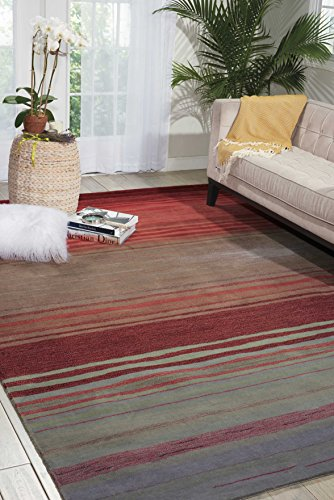 Nourison Contour (CON15) Flame Rectangle Area Rug, 8-Feet by 10-Feet 6-Inches (8' x 10'6