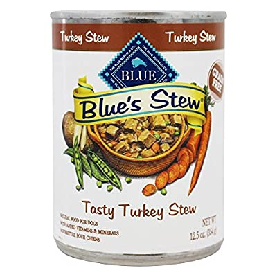 Blue Buffalo - Blue's Stew Canned Dog Food Tasty Turkey Stew - 12.5 oz.