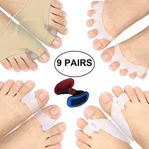 (Bunion Splints, Bunion Corrector, Bunion Relief Protector Sleeves Kit for Cure Pain in Big Toe Joint, Hammer Toe, Hallux Valgus, Tailors Bunion, Toe Separators, Foot Supports of Bunion in Toe)